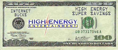 High Energy discount one hundred dollar bill