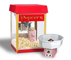 Party rental popcorn machine