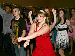 Dancing at Sweet Sixteen DJ party