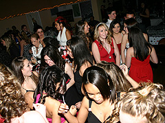 Having fun at DJ Sweet Sixteen party