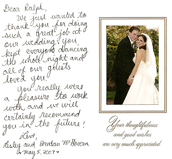 Picture of bride and groom testimonial